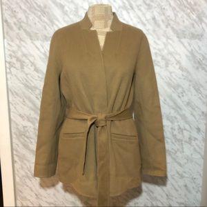 Talbots Wool Jacket Tan Size Medium